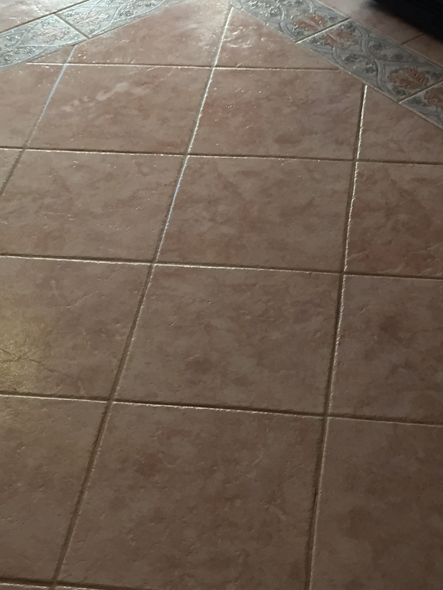 After tile and grout cleaned
